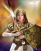 Warrior Bride Of Chist Painting - Warrior Bride Of Chist Fine Art Print.