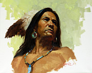 Southwestern Print Framed Prints - Warrior De Framed Print by Gary Kim