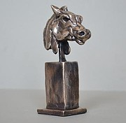 Greek Sculpture Sculptures - Warrior Horse by Edward  Waites