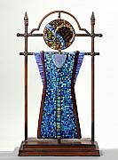 Fused Glass Art - Warrior Moon by Mark Lubich