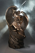 Christian Sculpture Prints - Warrior of God Print by Mark Patrick
