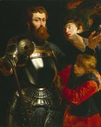 Armor Paintings - Warrior  by Peter Paul Rubens