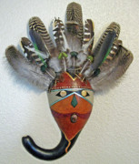 Gourd Sculptures - Warrior Queen by Nedra  Denison