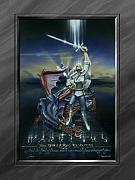 Boys Painting Framed Prints - Warriors - Dragon Slayer Framed Print by Cliff Hawley