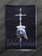 Dark Painting Posters - Warriors Poster by Cliff Hawley