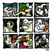 Boxing  Digital Art Framed Prints - Warriors of the Octagon Framed Print by Dan Daulby