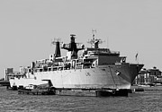 Carrier Metal Prints - Warship HMS Bulwark Metal Print by Jasna Buncic