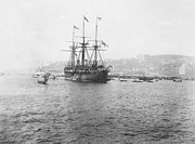 Warship Prints - Warship Kaiser on which Kaiser Wilhelm II of Germany came to Istanbul Print by International  Images