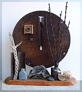 Rusty Sculpture Framed Prints - Warzawa Framed Print by Snake Jagger