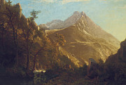 Rockies Paintings - Wasatch Mountains by Albert Bierstadt