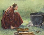 Campfire Paintings - Wash Day I by Bob Wilson