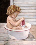 Bathing Paintings - Wash Day by Jaime Harrison
