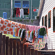 Lynette Cook Paintings - Wash Day by Lynette Cook