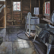 Wash Room Digital Art - Wash-house by Kelly Morrow