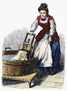 Washtub Prints - Washboard, 1870 Print by Granger