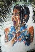 Child Jesus Painting Originals - Washed By Water by Lynn Weatherford