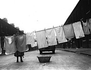 45 Posters - Washing Day Poster by Fox Photos