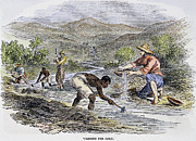 Forty Niner Prints - Washing For Gold, 1849 Print by Granger