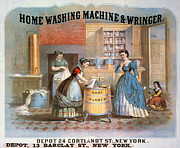 Domestic Interior Posters - Washing Machine Ad, 1869 Poster by Granger