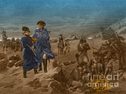 U.s Army Framed Prints - Washington And Lafayette At Valley Forge Framed Print by Photo Researchers