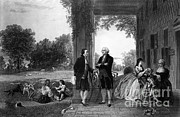 French Man-of-war Art - Washington And Lafayette, Mount Vernon by Library of Congress
