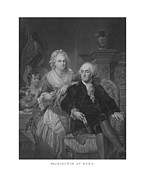 Martha Washington Framed Prints - Washington At Home Framed Print by War Is Hell Store