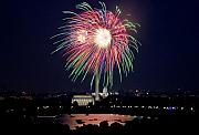 Washington Dc Fourth Of July Fireworks Print by Carol M Highsmith