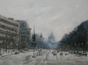 Washington Dc Paintings - Washington DC by James Corwin