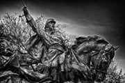 Russian Civil War Prints - Washington DC Memorial Detail No 18 Print by Val Black Russian Tourchin