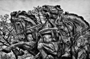 Russian Civil War Prints - Washington DC Memorial Detail No 4 Print by Val Black Russian Tourchin