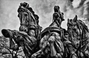 Russian Civil War Prints - Washington DC Memorial Detail No 8 Print by Val Black Russian Tourchin