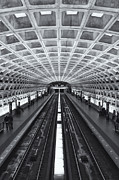 Commuting Posters - Washington DC Metro Station II Poster by Clarence Holmes