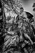 Russian Civil War Prints - Washington DC Monument Detail No 12 Print by Val Black Russian Tourchin