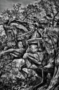 Russian Civil War Prints - Washington DC Monument Detail No 3 Print by Val Black Russian Tourchin