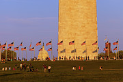 Washington Monument Photos - Washington DC Sunset by Brian Jannsen