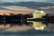 First President Posters - Washington DC Thomas Jefferson Monument Poster by Mark VanDyke