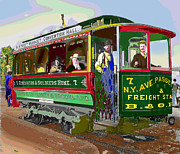 Washington D.c. Mixed Media - Washington DC Trolley by Charles Shoup