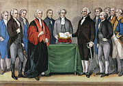 Federalist Framed Prints - Washington: Inauguration Framed Print by Granger