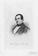 Irving Framed Prints - Washington Irving Framed Print by Granger