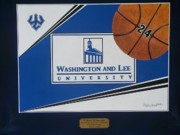 Basketballs Framed Prints - Washington Lee Univ. Basketball Framed Print by Herb Strobino