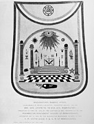 Masonic Framed Prints - Washington: Masonic Apron Framed Print by Granger