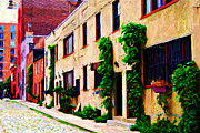 Townhomes Framed Prints - Washington Mews Sketch Too Framed Print by Randy Aveille