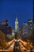 Washington Monument And City Hall Print by John Greim