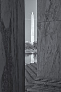 D.w. Posters - Washington Monument from Jefferson Memorial II Poster by Clarence Holmes