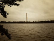 Washington Monument Framed Prints - Washington Monument in Sepia Framed Print by Bill Cannon
