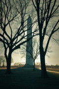Flag Waver Framed Prints - Washington Monument on a Winter Day Framed Print by Brandon Bourdages