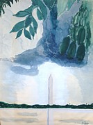 Washington Monument Paintings - Washington Monument by Rod Ismay