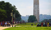 Washington D.c. Digital Art Originals - Washington Monument by Russ Harris