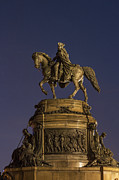 Philadelphia Museum Of Art Prints - Washington Monument Sculpture Print by John Greim