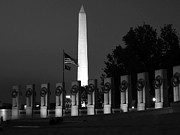 Fidelity Framed Prints - Washington Monument with WWII Memorial Framed Print by Jeff Stein